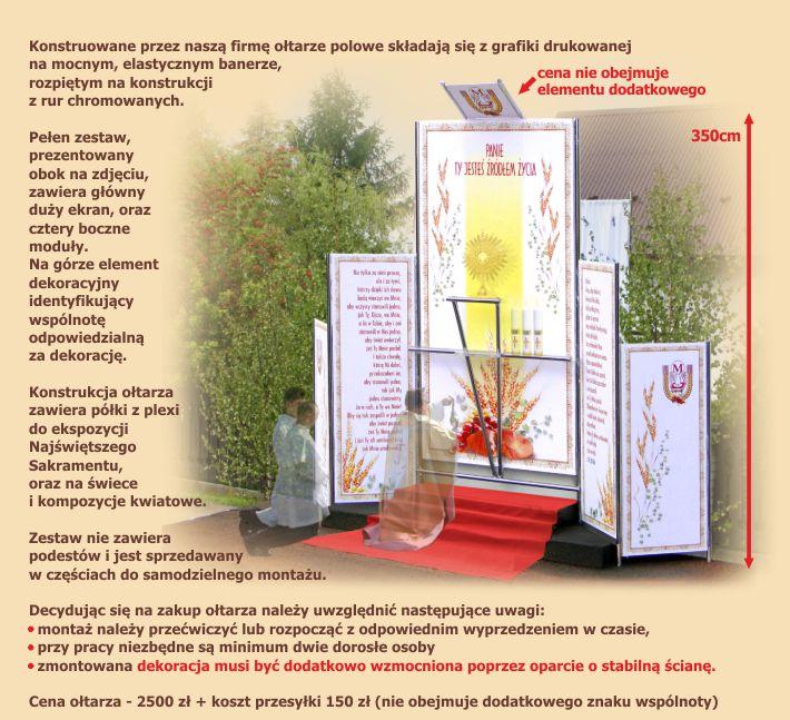 Boże Ciało - dekoracje do przygotowania ołtarzy